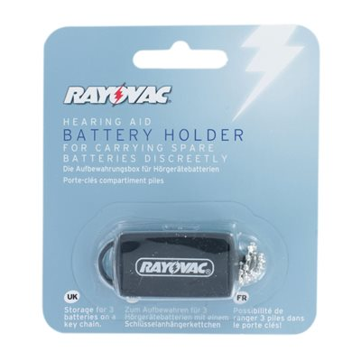 Hearing aid battery holder/caddy keyring